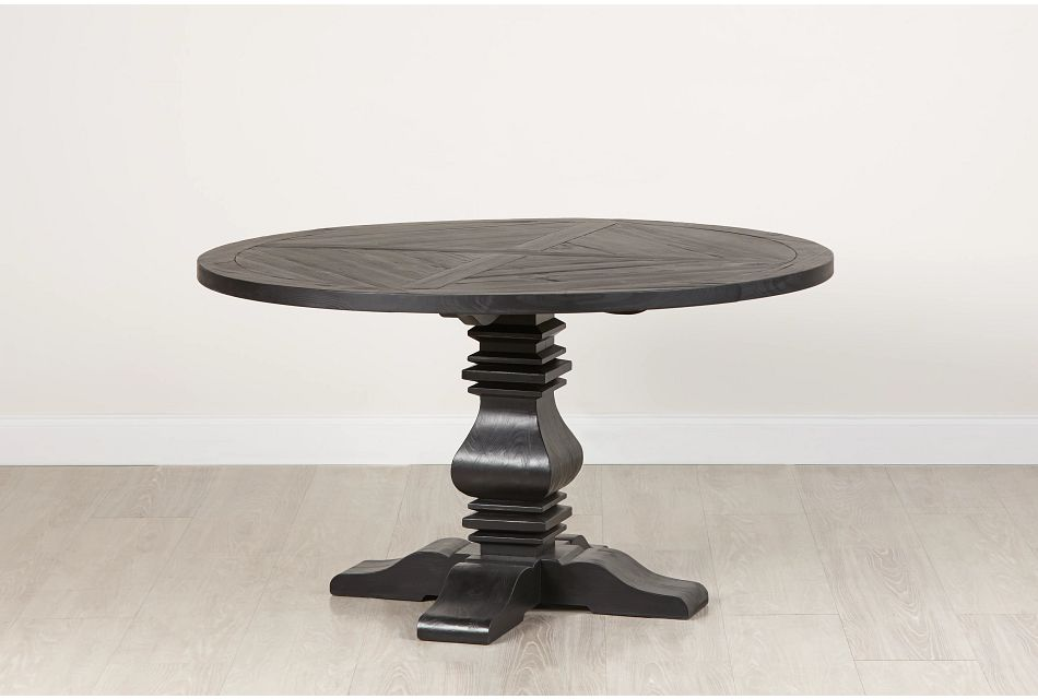 "Hadlow Black 54"" Round Table"