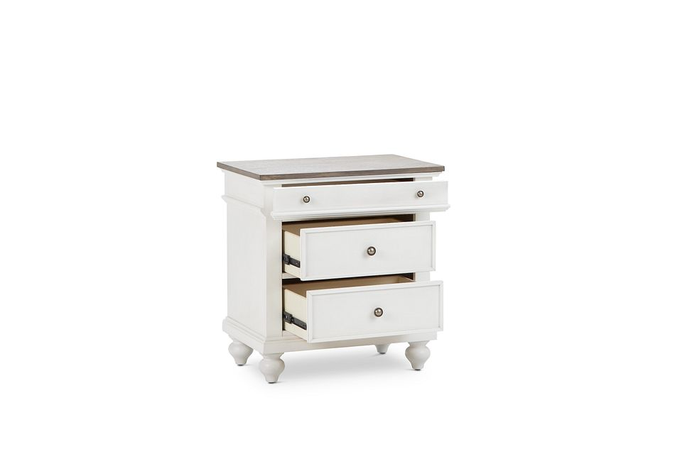 Grand Bay Two-tone Wood Nightstand