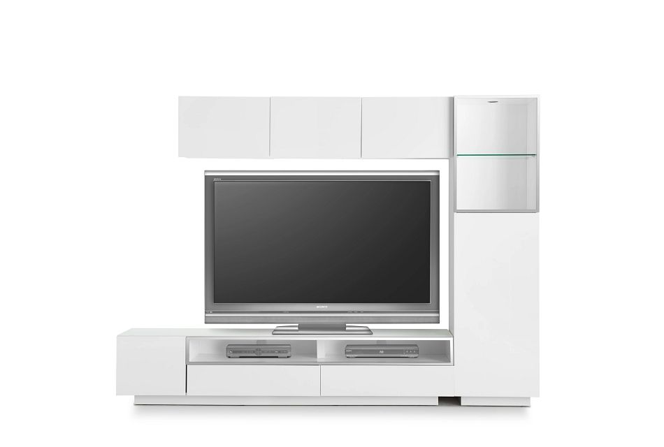 """Vancouver White 108"""" 5-piece Right Modular Entertainment Wall"""