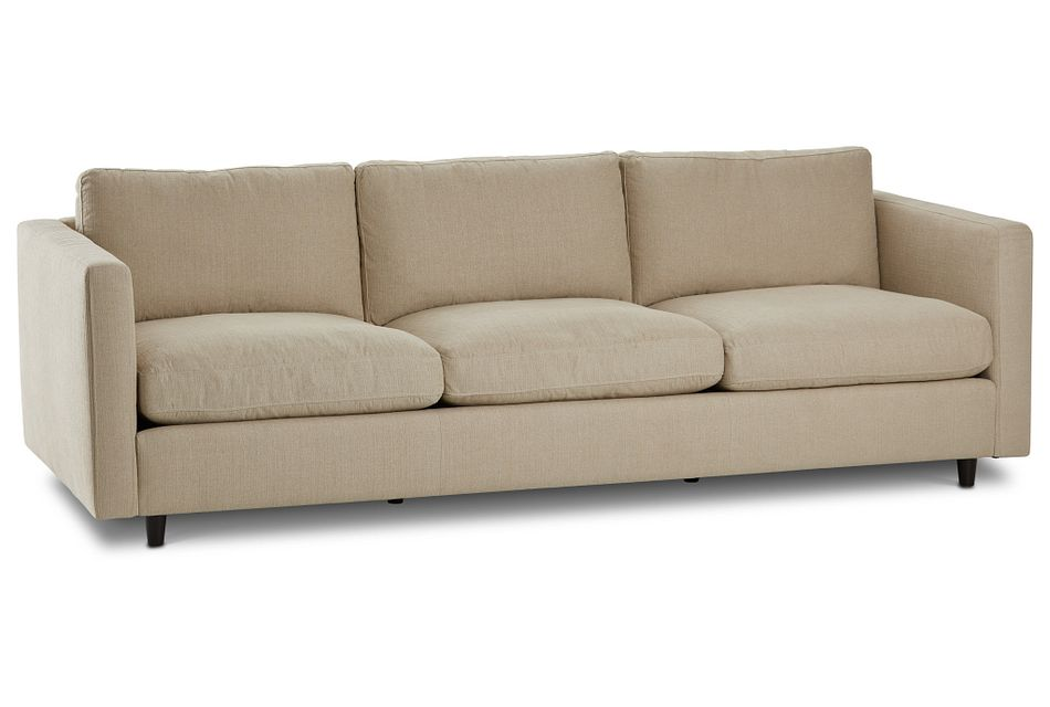 Simone Beige Fabric Sofa