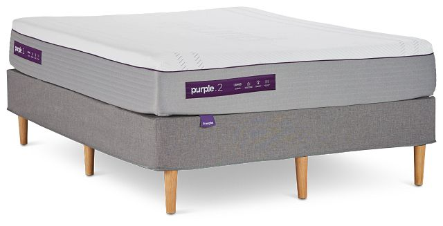Purple Hybrid Mattress Set (1)