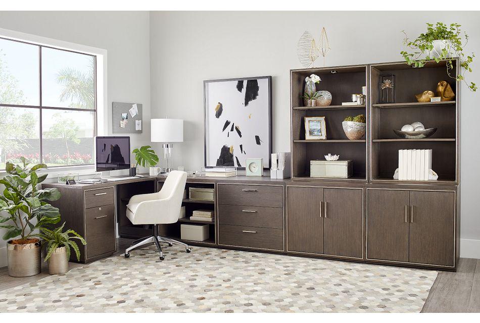 Highline Dark Tone 5 Piece L Desk,  (1)