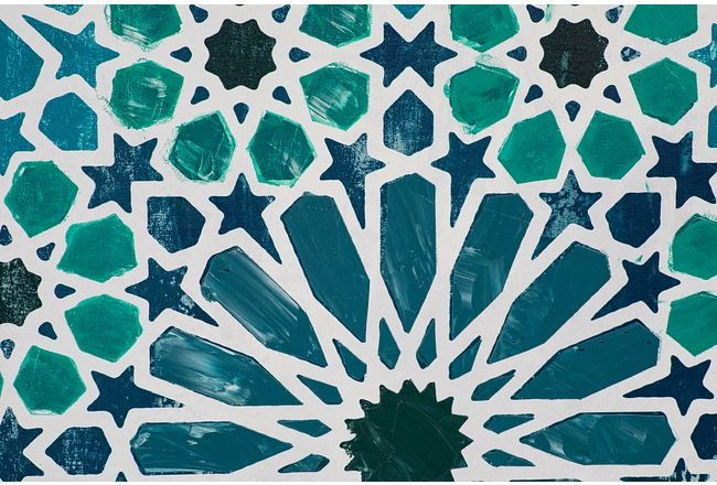 Melody Blue Framed Canvas Wall Art