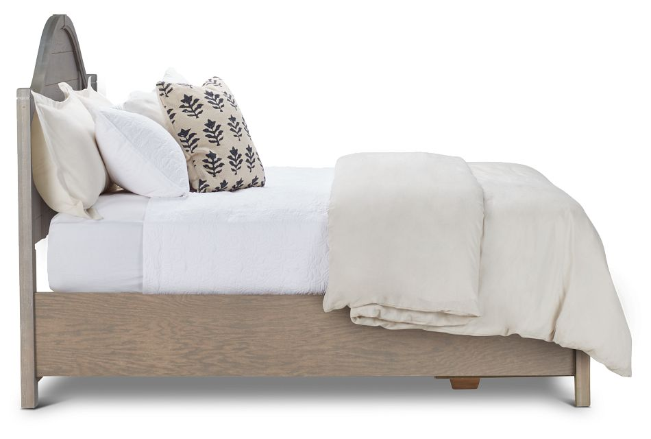 Bungalow Mid Tone Arched Panel Storage Bed