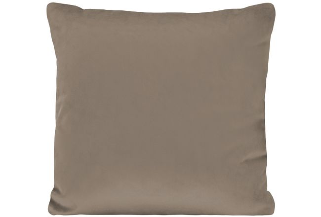 Royale Taupe Fabric Square Accent Pillow