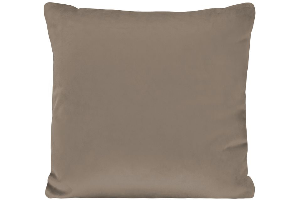 Royale Taupe Fabric Square Accent Pillow,  (0)