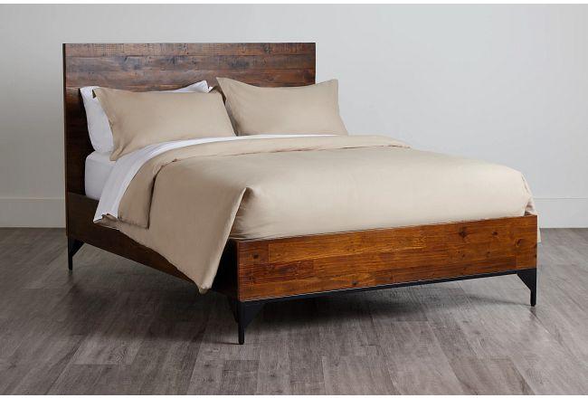 Chicago Dark Tone Panel Bed