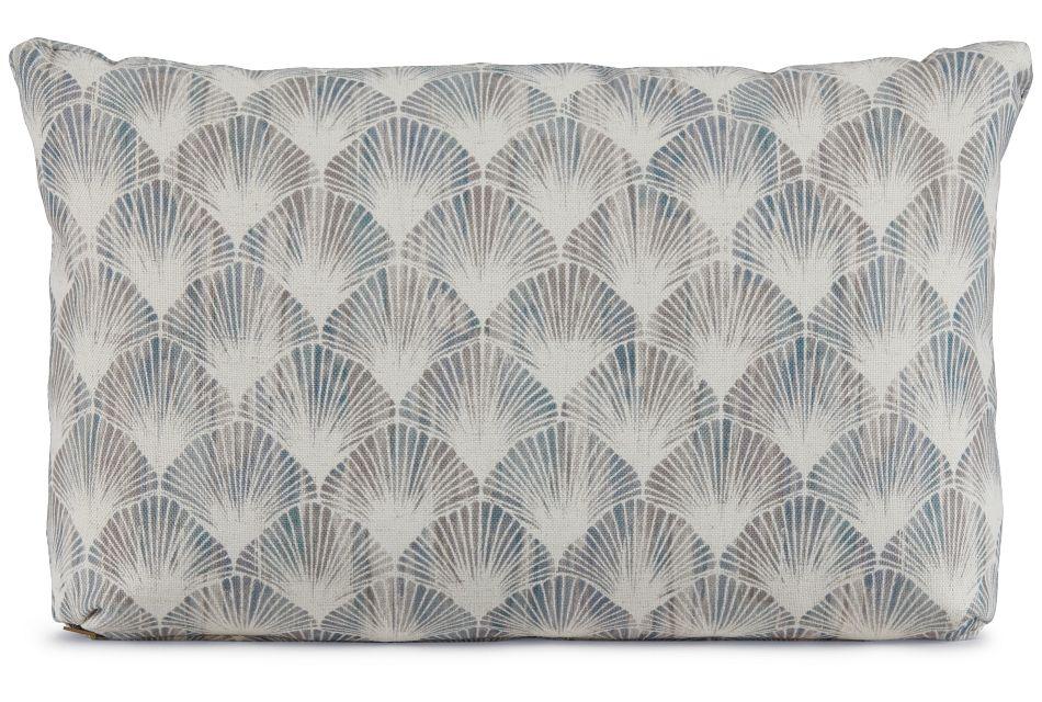 Shell Green Fabric Lumbar Accent Pillow,  (1)