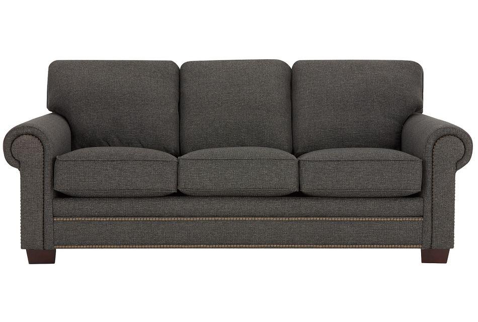 Foster Dark Brown  Fabric Sofa,  (0)