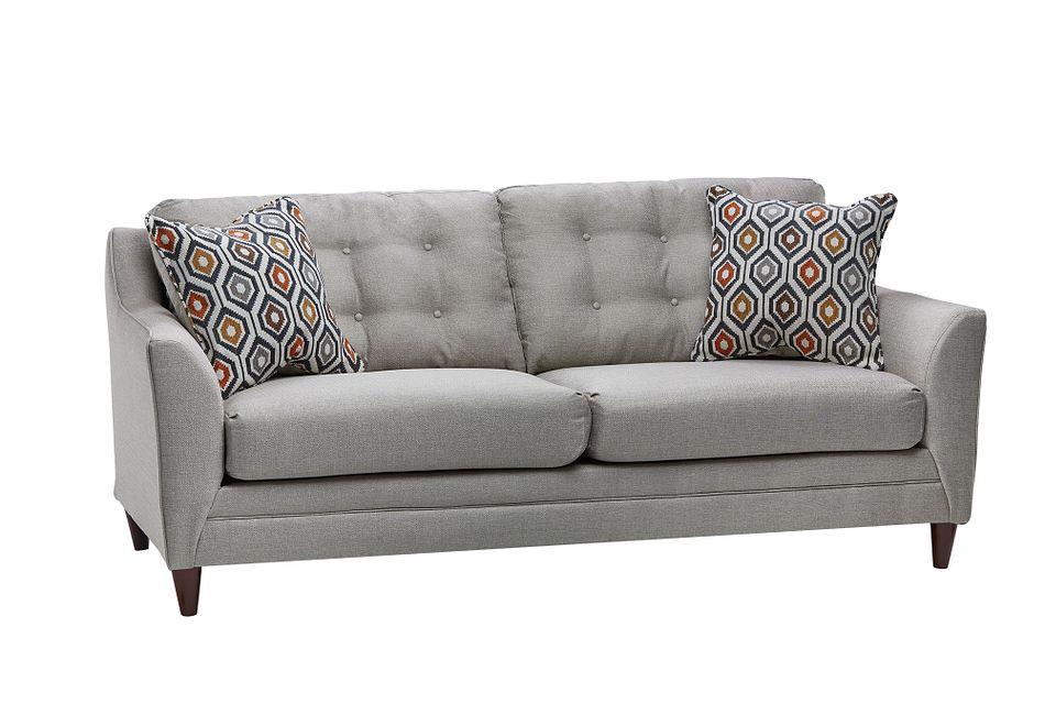 Jensen Light Gray Fabric Sofa