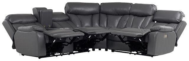 Dustin Gray Micro Left Console Love Reclining Sectional (1)