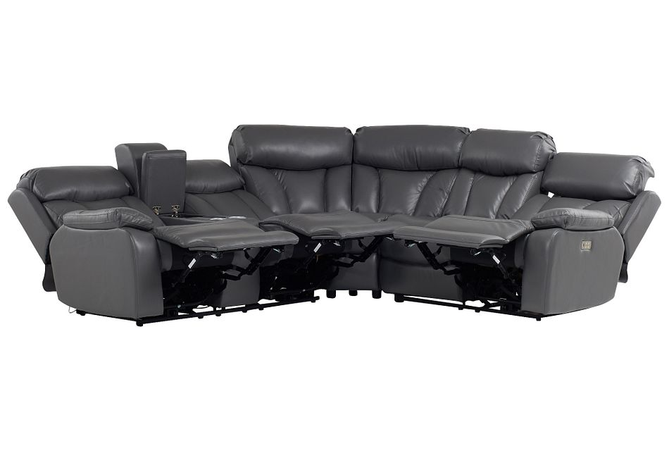 Dustin Gray Micro Left Console Love Reclining Sectional