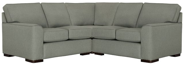 Austin Green Fabric Small Two-arm Sectional (0)