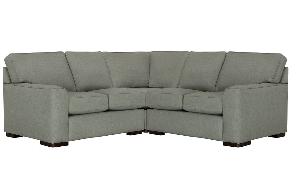 Austin Green Fabric Small Two-arm Sectional