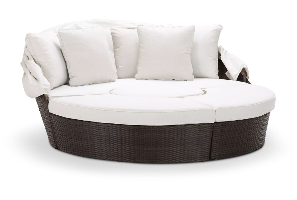 Fina White Canopy Daybed,  (0)