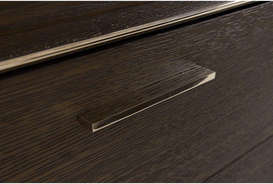 Highline Dark Tone Small Peninsula Drawer Wall Desk