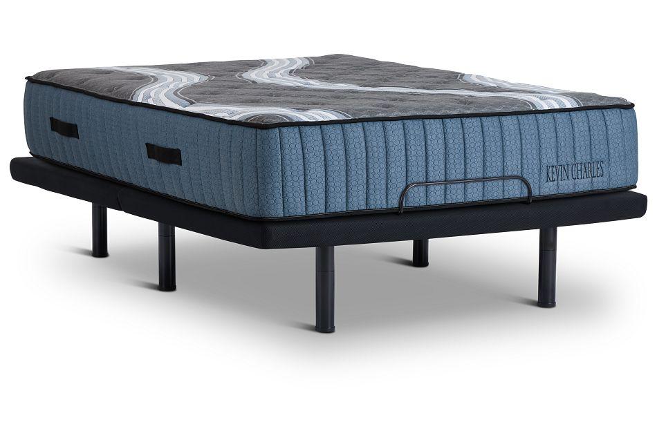 Kevin Charles Vanderbilt Lux Firm Luxury Firm Silver Adjustable Mattress Set