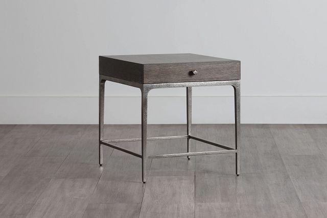 Linea Dark Tone Metal End Table (0)