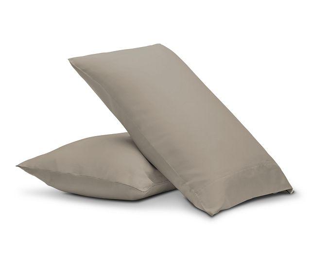 Egyptian Cotton Beige 400 Thread Set Of 2 Pillowcases