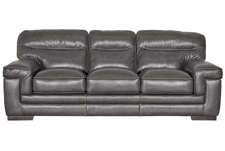 Alexander Gray Leather Sofa