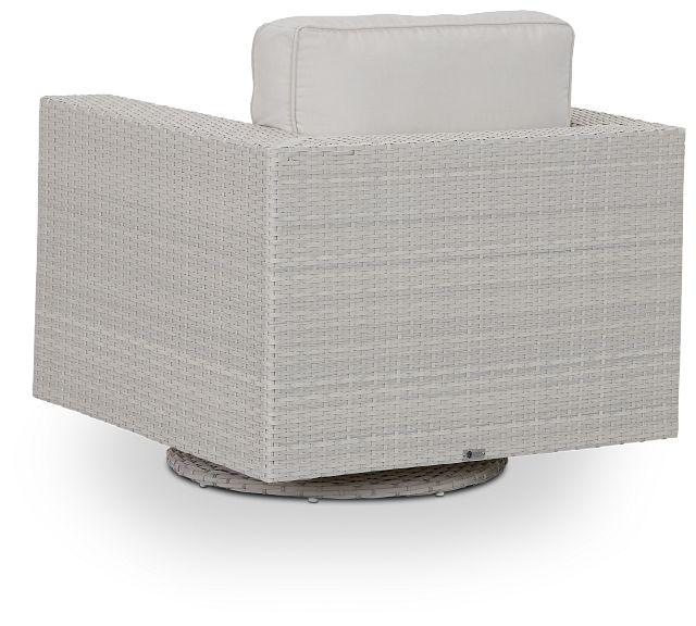 Biscayne White Swivel Chair (3)