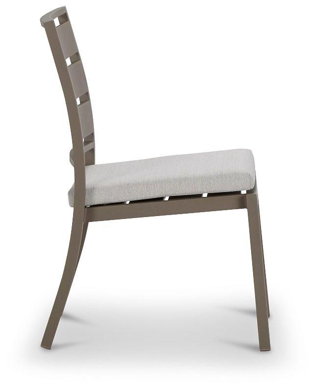 Raleigh White Aluminum Side Chair (1)