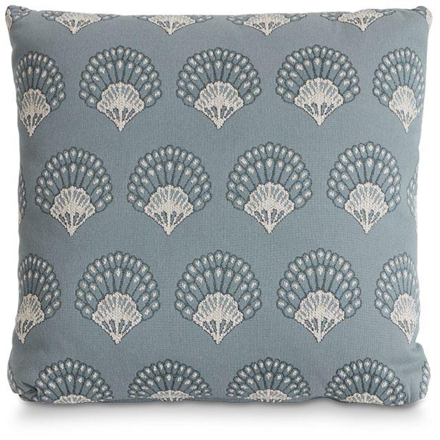 "Chantilly Blue Fabric 20"" Accent Pillow (1)"