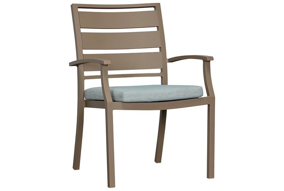 Raleigh Teal Aluminum Arm Chair