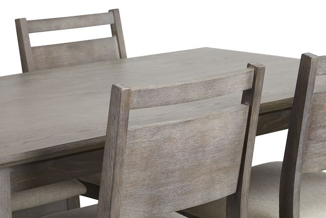 Rockville Light Tone Rect Table & 4 Upholstered Chairs