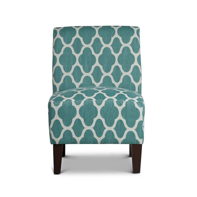 Comet Light Blue Fabric Accent Chair (2)