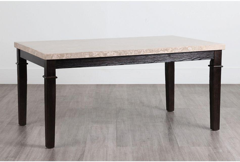 Portia Dark Tone Marble Rectangular Table,  (0)
