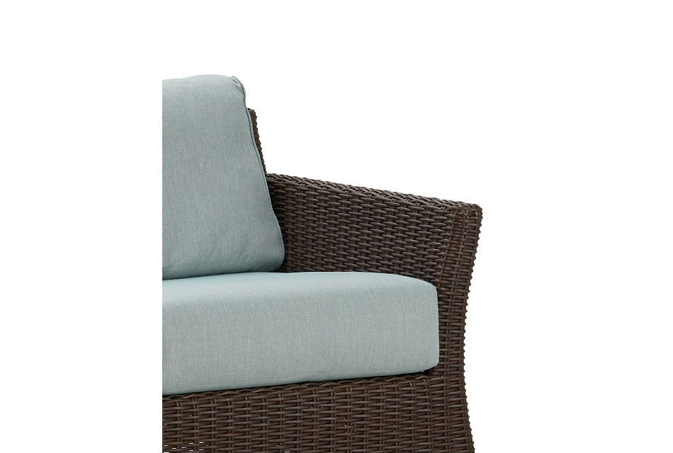 Southport Teal Woven Sofa