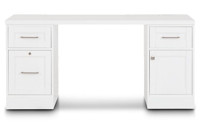 Newport White Writing Desk