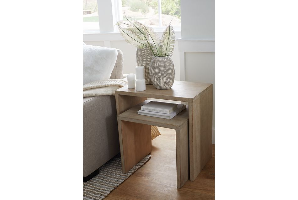 Merwin Light Tone Set Of 2 Nesting End Table