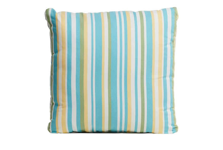 "Forward Light Blue 20"" Indoor/outdoor Accent Pillow"