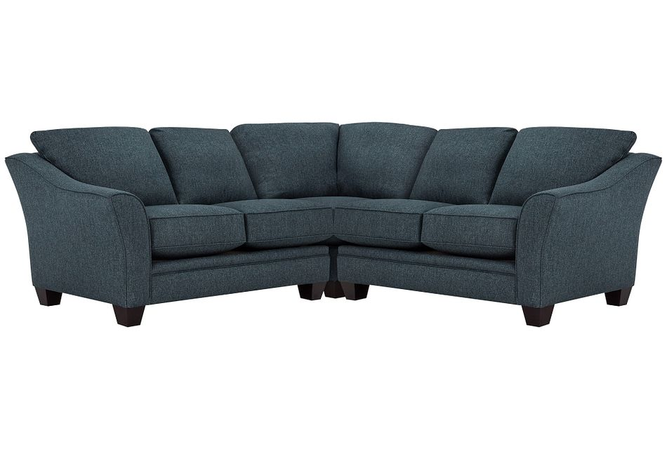 Avery Dark Blue  FABRIC Small Two-Arm Sectional,  (0)