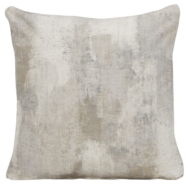 Antalya Gray Fabric Square Accent Pillow (0)