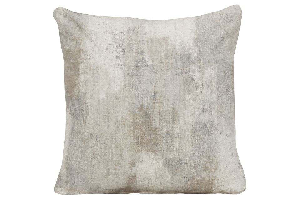 Antalya Gray Fabric Square Accent Pillow