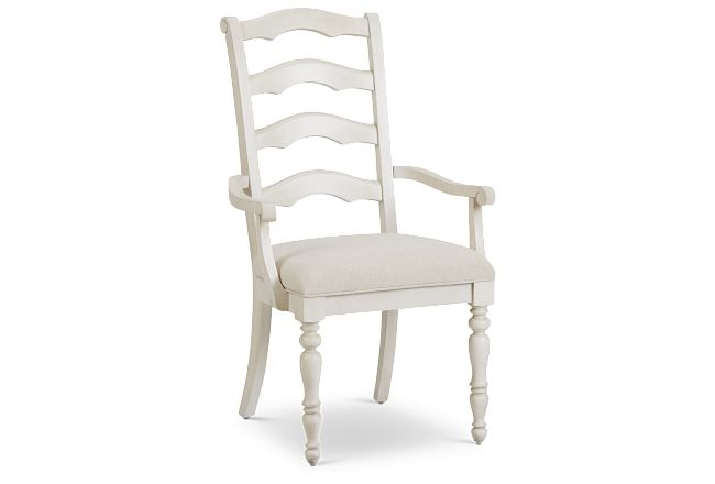 Savannah Ivory Wood Arm Chair