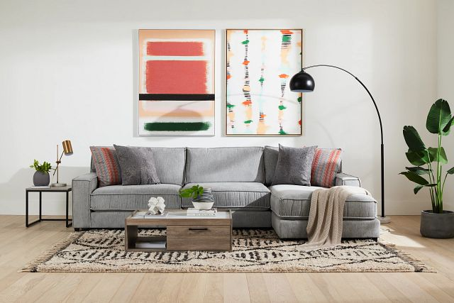 Taylor Gray Fabric Right Chaise Sectional (1)