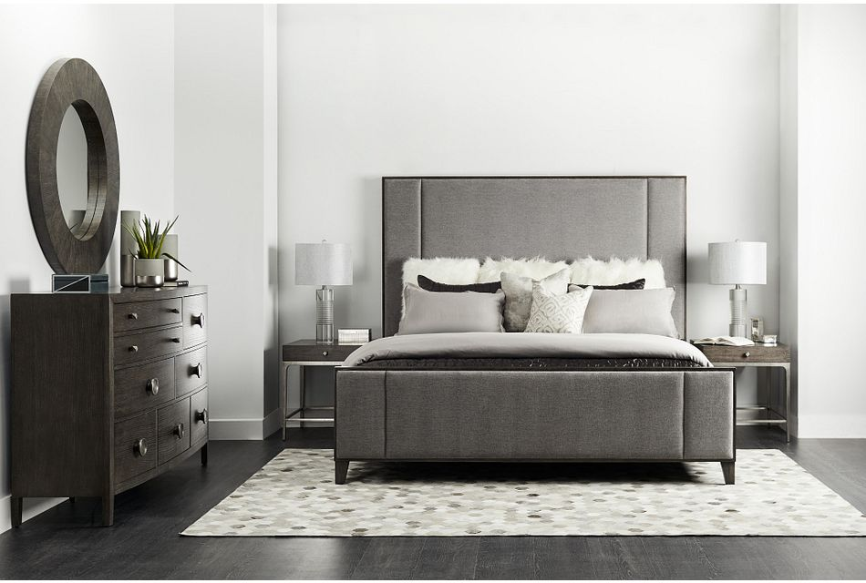 Linea Dark Tone Uph Platform Bedroom