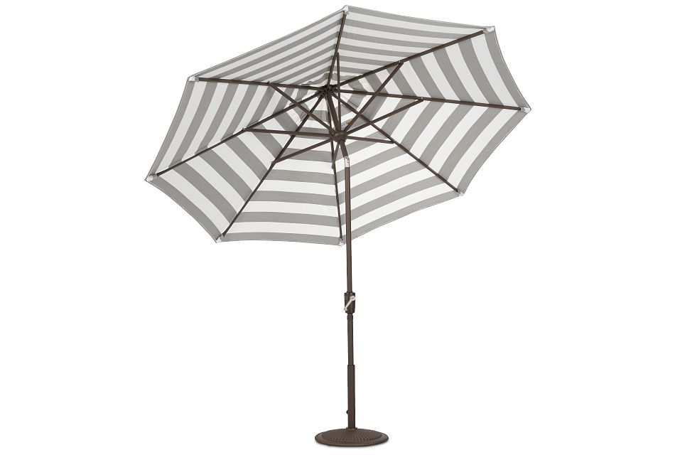 Maui Gray Stripe Umbrella Set
