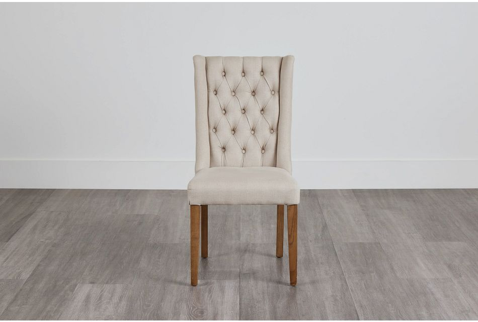 Camilla Beige Upholstered Side Chair,  (0)