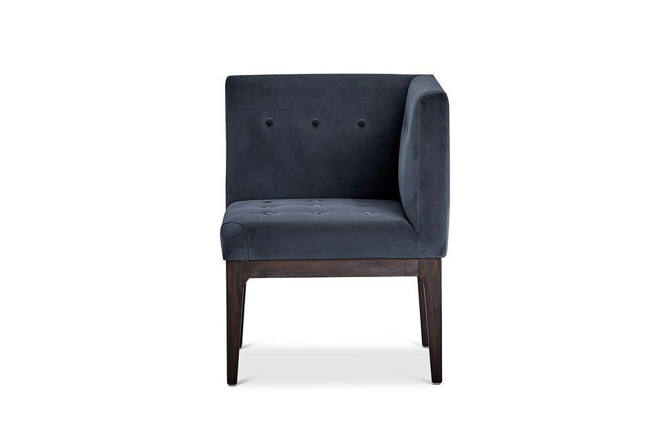 Reilly Dark Gray Velvet Accent Chair