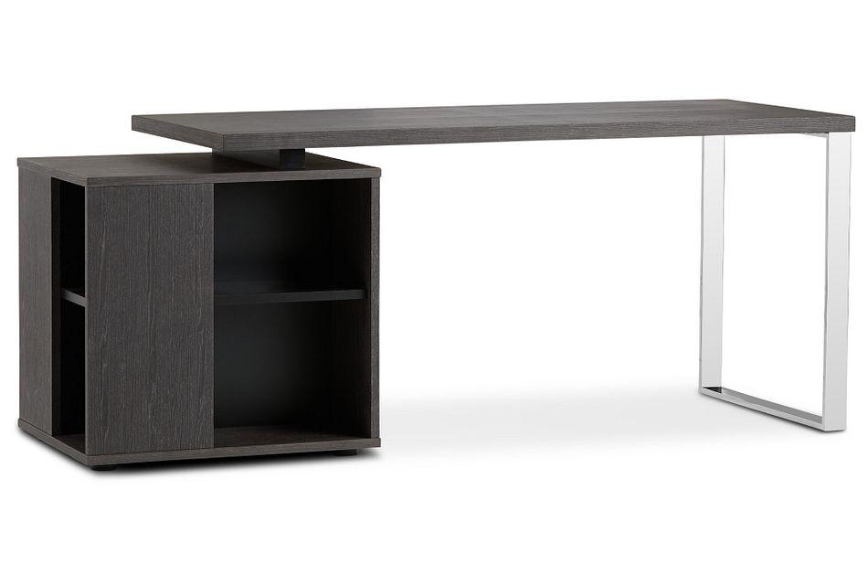 Vancouver Dark Gray Storage Desk