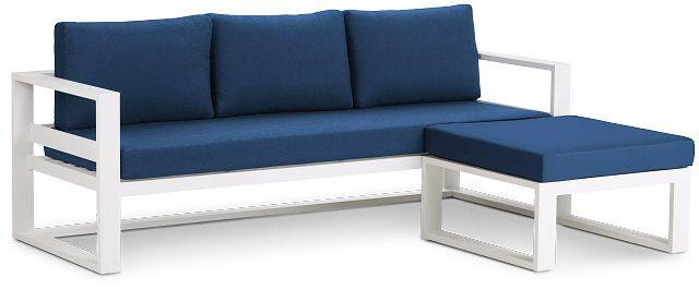Lisbon Navy Aluminum Chaise Sectional (0)