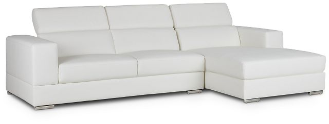 Maxwell White Micro Right Chaise Sectional (2)