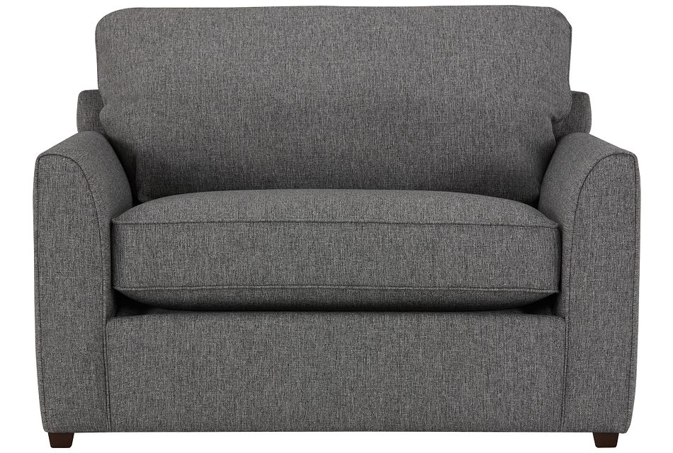 Asheville Gray Fabric Innerspring Sleeper, Twin (1)