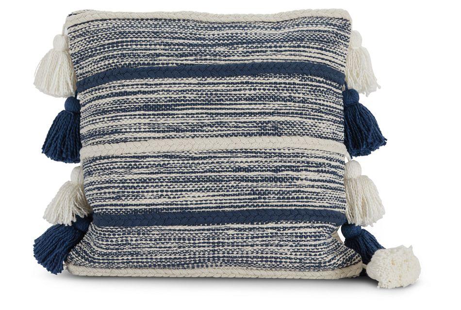 Elan Dark Blue Accent Pillow