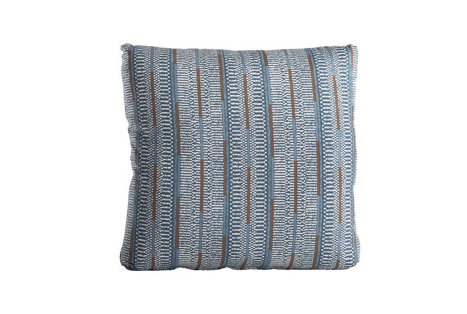 Ashanti Blue Square Accent Pillow